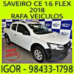 VW SAVEIRO CD 1.6 FLEX 2018 NA RAFA VEICULOS FALAR COM IGOR kker