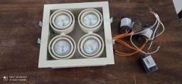 Conjunto de spot com lâmpadas dicróica