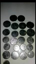 33 moedas antigas cruzeiro e cruzado de 1981 a1984