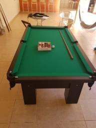 Mesa Charme de Sinuca e Jantar Cor Preta Tecido Verde Mod. BSAE5025