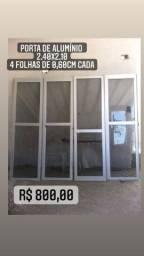 Portas de alumínio, Janela de alumínio, Pia e Cuba de banheiro