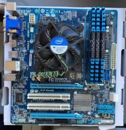 Placa Mãe Gigabyte + Processador Intel i7 + Memória Ram Corsair