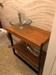 Lavabo - móvel completo com cuba e torneira