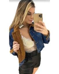 Jaqueta jeans toda forrada