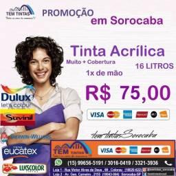 Super Oferta!Tinta acrílica de 16 Litros por apenas R$75,00/ Confira em nossas Lojas