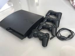 Playstation 3 + 4 Controles + 6 Jogos