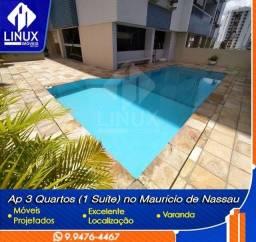 Alugo Apartamento de 78,5m² com 03 quartos (01 suíte) em Caruaru/PE.
