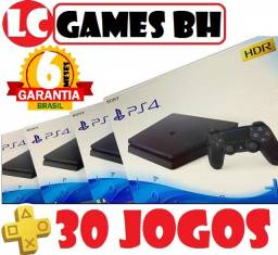 PlayStation 4 Slim 500GB ou 1TB + 30 JOGOs + 06 MESEs Garantia
