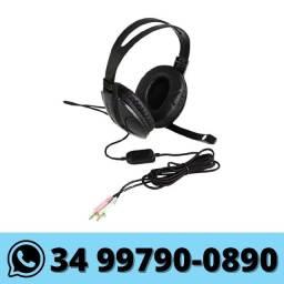 Fone com Microfone Headset p/ Computador Knup