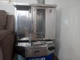 Máquina de churrasco grego de balcão giratória