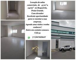 Locação de salas comerciais no Boqueirão, Praia Grande!