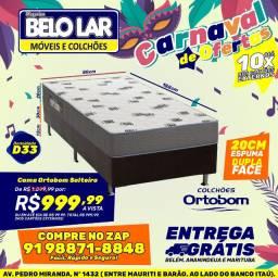 Cama Ortobom Solteiro Espuma D33 ,Compre no zap *