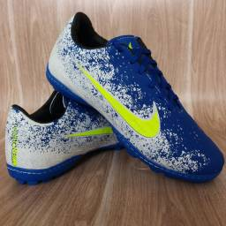 Chuteira Nike Society Blue Lemon