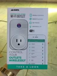 Tomada que conecta com Wi-Fi