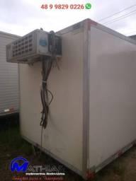 Baú frigorifico 5.50m nao acompanha a maquina de frio Mathias implementos