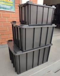 Caixas Organizadoras 61L, 130L e 180L - Preta