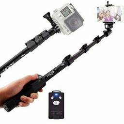 Pau de Selfie com Bluetooth monopod profissional