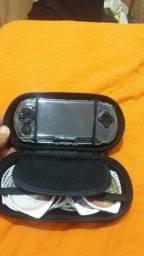 PSP novo com vários jogos carregador