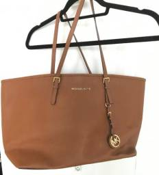 Bolsa Michael Kors Jet Set Travel Marrom Original