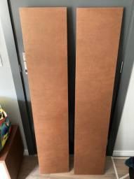 2 Prateleiras cor madeira escura