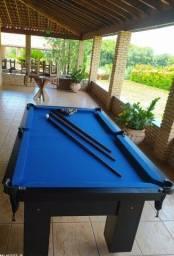 Mesa Charme Faça o Pedido Cor Preta Tecido Azul Mod. BSAE4751