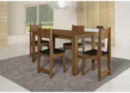 Mesa com 4 Cadeiras Nicoli - Promoção - R$299,00