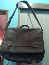 Bolsa Baggagio couro legítimo unissex