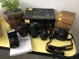 Nikon D7100 + 3 Lentes + Flash - Só 12 mil cliques - Vendo ou troco