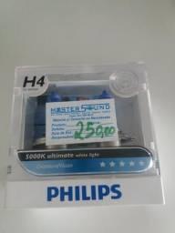 Lâmpada philps h4 o par colocado