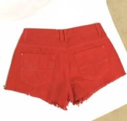 Short tamanho 38 vermelho