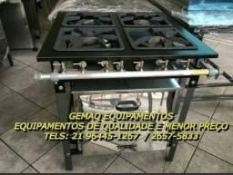 Aqui é Preço! Fogão Industrial de 4 bocas COM forno 21 96445-1267 Pronta entrega!