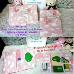 1 Kit higiene do bebê e 1 Capa para cartão de vacina