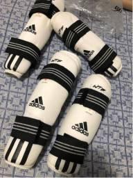 Caneleira e Protetor Braçal - Adidas Original, Taekwondo - Tamanho M e L