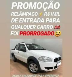Bem FÁCIL! R$1MIL DE ENTRADA(STRADA CABINE DUPLA 1.4 2013)SHOWROOM AUTOMÓVEIS