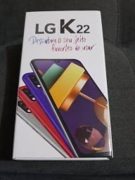 Celular LG K22 - Novo / Tela de 6'2 / 32GB / Câmera Dupla