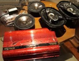 Kit Som Automotivo - Módulo- Auto falantes - Filtros - Para levar tudo