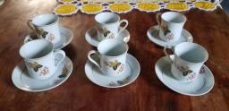 Jogo porcelana real 6 xícaras café