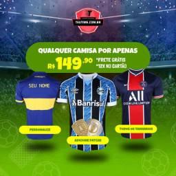 Camisas de Times Brasileiros e Europeus Personalizadas
