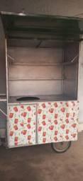carrinho de batata frita ou pastel