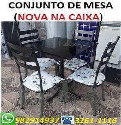 Oferta Boa Demais!!Conjunto de mesa 4 Cadeiras Nova Com Entrega e Montagem Gratis