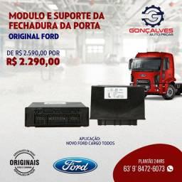 MÓDULO E SUPORTE DA FECHADURA DA PORTA ORIGINAL FORD