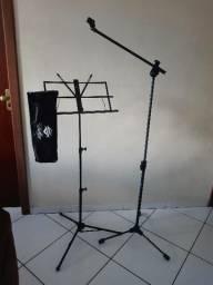 Pedestal p/Microfone+Estante p/Patuturas