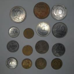 15 Moedas Brasileiras Antigas, De 1948 A 1992 Em Bom Estado