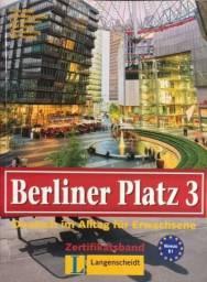 Livro Ensino Alemão Berliner Platz 3 Niveau B1 Zertifikatsband Novo Ano 2004 Nunca Usado!