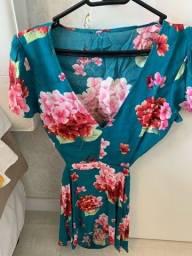 Vestido floral tamanho P Forever 21