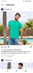 T-shirts Masculina com metalacê
