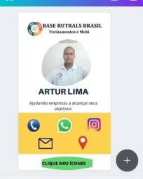 Faço cartão de visita interativo DIGITAL R$50,00