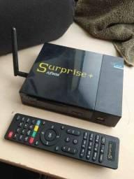 Receptor Tv Digital Surprise Por Cabo + Ip Canais Sd Com Cs