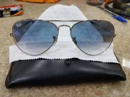 Óculos de sol Ray Ban espelhado azul