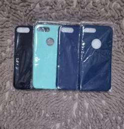 (Novo) Capas iPhone 7plus e 6plus silicone